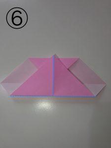 ハートの簡単な折り方6