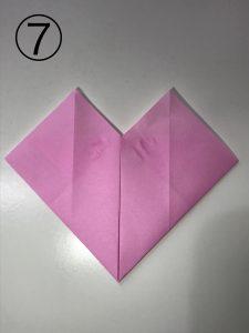 ハートの簡単な折り方7