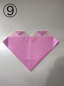 ハートの簡単な折り方9